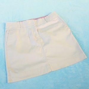Vineyard Vines Khaki Chino Skirt Pink Whale 10